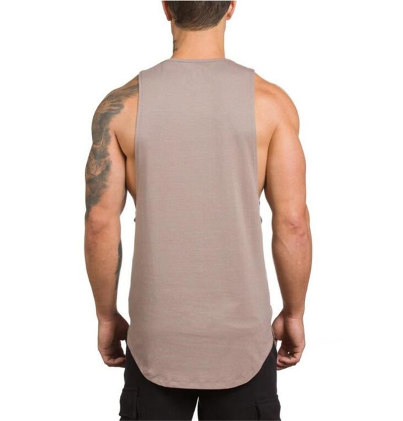 Brand Gyms Stringer Clothing Bodybuilding Tank Top Men Fitness Singlet Sleeveless Shirt Solid Cotton Muscle Vest Undershirt 47