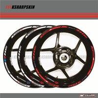 12 X Thick Edge Outer Rim Sticker Stripe Wheel Decals For BMW S1000R 17