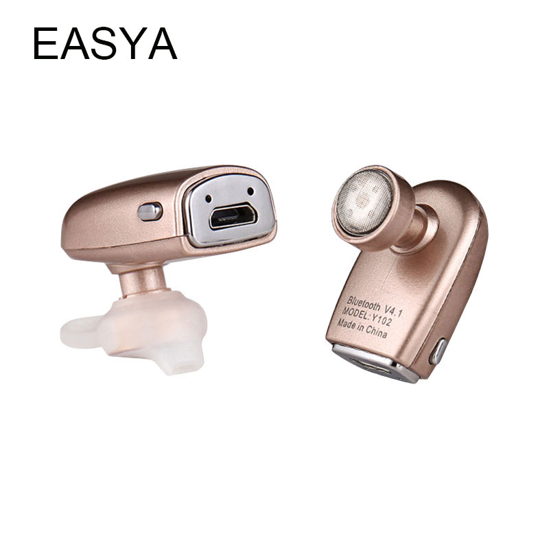 EASYA Mini Wireless Bluetooth Earphone Y102 V4.1 Sport Headphones Ear Hook Headset Phone With Mic Earbuds Handfree For Phone Use joway h02 earphone mini wireless bluetooth headphones ear hook headset with microphone for mobile phone iphone xiaomi
