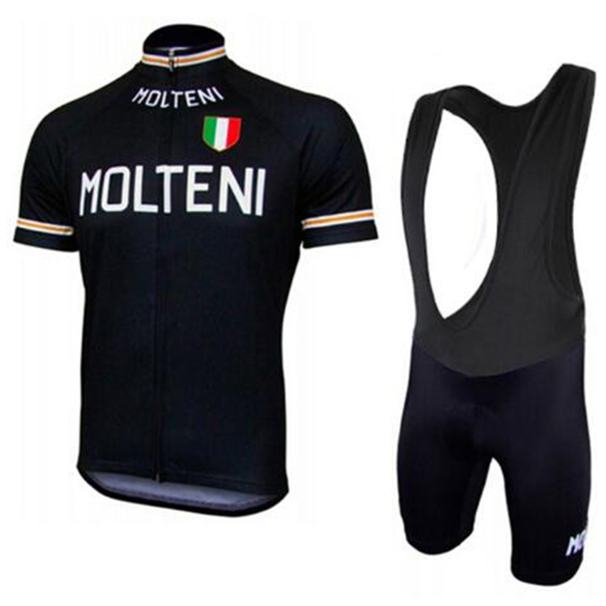 Classic MOLTENI Cycling Jersey Sets Summer Short Sleeve Men MTB Cycling Clothing Wear 3D Gel Pad Bib Shorts Bicycle Clothes Sets xintown new 2018 spring cycling jersey set long sleeve 3d gel padded sets bike clothing mtb protective wear cycling clothes sets