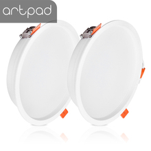 Artpad 2PCS/LOT Ultra Thin 18W LED Downlight AC110V 220V Bedroom Living Room Corridor Flush Mount Mini Ceiling Down Light IP44
