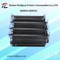 Compatible toner cartridge Q6000A Q6001A Q6002A Q6003A for HP 124A Color Laserjet 1600 2600n 2605 2605dn 2605dtn CM1015 CM1017