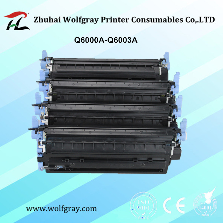 Compatible toner cartridge Q6000A Q6001A Q6002A Q6003A for HP 124A Color Laserjet 1600 2600n 2605 2605dn 2605dtn CM1015 CM1017 цена