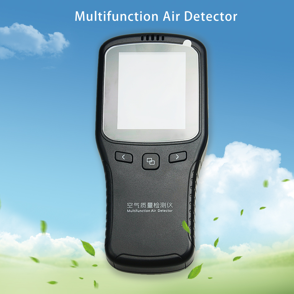 Original High Accuracy 6 in 1 Indoor Laser Formaldehyde Gas PM2.5 Detector CH2O TVOC Tester Household Air Quality LCD Monitor indoor air quality monitor air quality detector tvoc&fomaldehyde detector