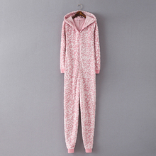 EUR SIZE pink leopard onesies all in one for adult girls sleepwear