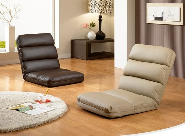 Japanese Seating Furniture Folding Floor Leather Recliner Modern Design Fashion Lesiure Foldable Couch Sofa Chair