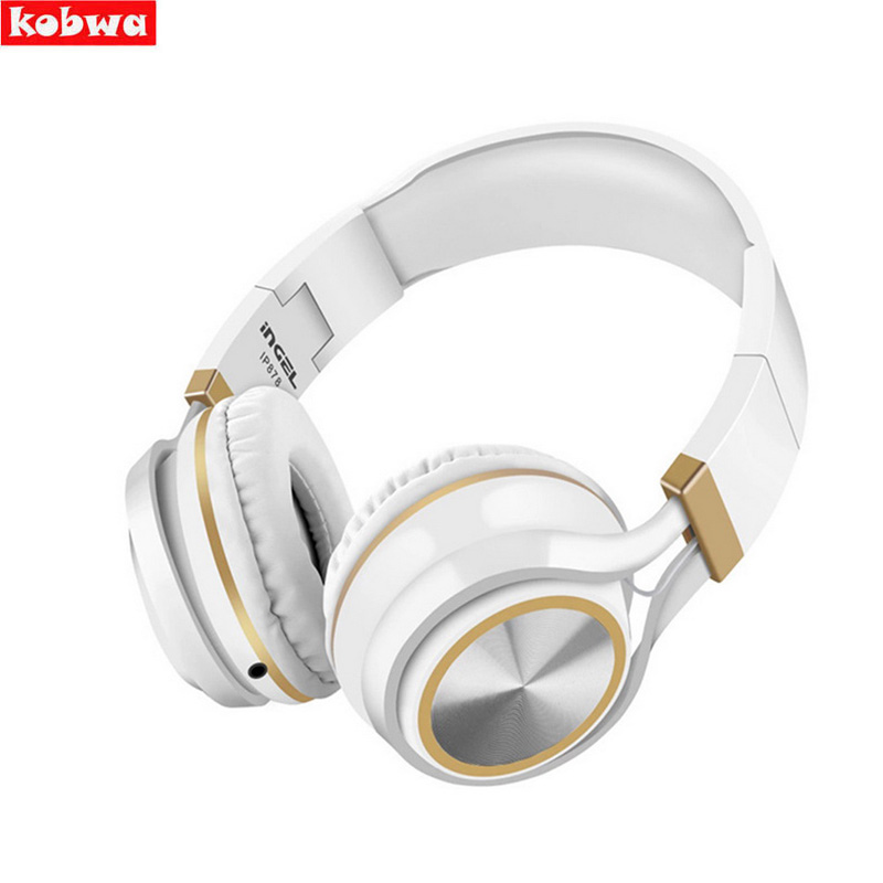 Foldable Wired Headphones With Microphone Over Ear Headsets Bass HiFi Sound Music Stereo Earphone For iPhone Xiaomi PC 3.5mm aux