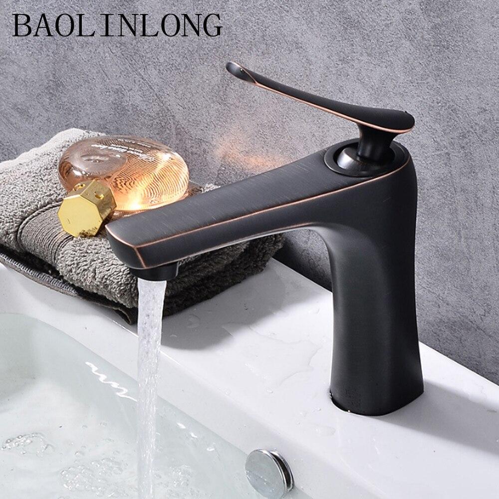 BAOLINLONG Deck Mount Brass Bathroom Faucets Tap Vanity Vessel Sinks Mixer Faucet Tap