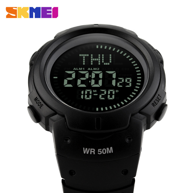 2017 Outdoor Sports Compass Watches Hiking Men Watch Digital LED Electronic Watch Man Sports Watches Chronograph Men Clock
