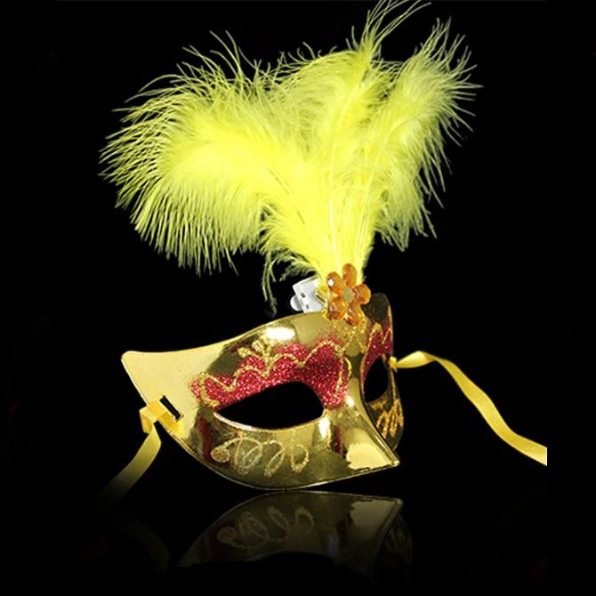 Çok Renkli Tüy PVC Prenses Maske Seksi Yortusu Venedik Bauta Maske - Tatiller ve Partiler Için - Fotoğraf 5
