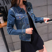 2019 Spring Denim Jacket For Women Plus Size Long Sleeve Single Breasted Jeans Coat Ladies Coats