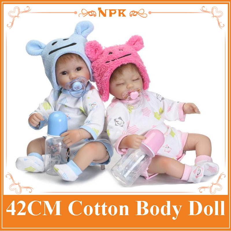 Handmade NPK 42cm Soft Silicone Bebe Reborn Baby Dolls For Sale With Cute Clothes Alive Silicone Baby Dolls For Children Gifts cute 17 silicone baby dolls for sale with lovely high quality bear clothes bonecas baby alive most hot sell brinquedo menina