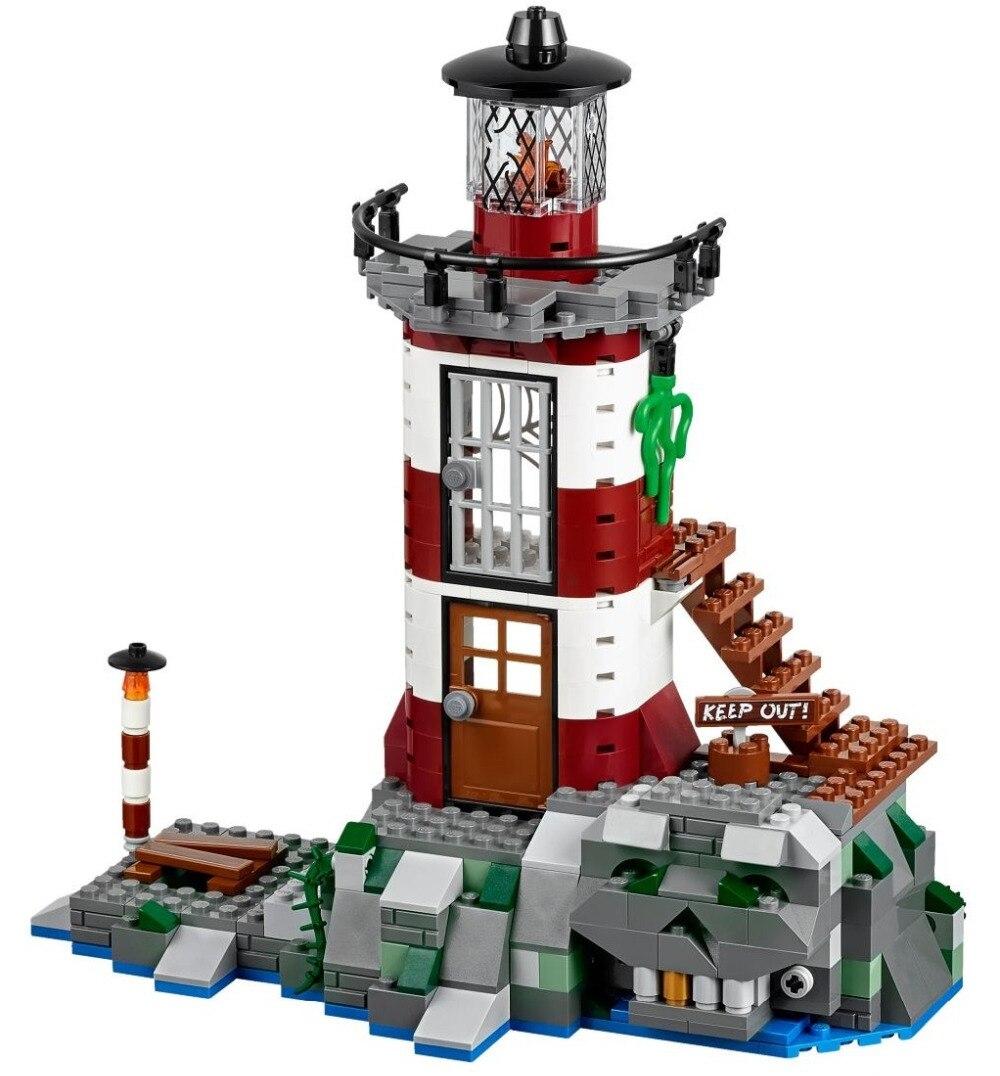 BELA Scooby Doo Haunted Lighthouse Building Block Model Kits Scooby Doo Marvel Minifigures Toys Compatible Legoe