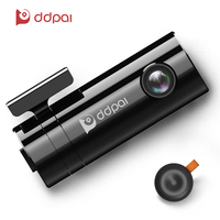 ddpai mini2 Dash Cam 1440P Full HD Recording Car Camera Rotatable Lens Car DVR Wireless Snapshot Wifi Connection Recorder(Black)
