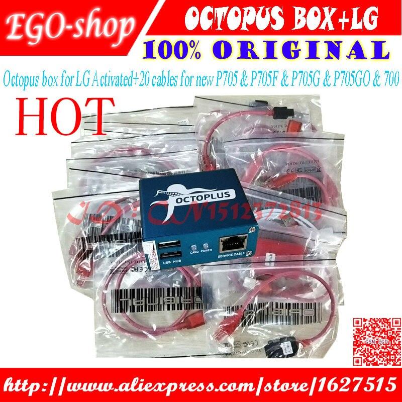 Gsmjustoncct 100% первоначально Octopus Box для LG разблокировать и ремонт флэш инструмент мобильного телефона (пакет с 20 кабели)