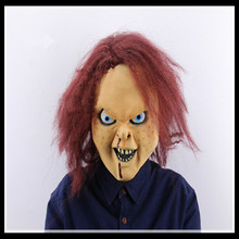 Freeshipping High Quality Halloween Creepy Scary CHUCKY Mask Latex Full Head Badboy Mask Adult Costume Ghost Mask in stock