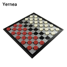 Yernea New Chess Checkers Board Game Set High-quality Magnetic Checkers Folding Checkerboard Chessboard Checkers Pieces цена