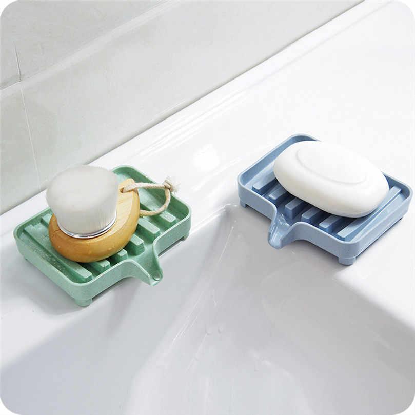 Łazienka spustowy mydelniczka drenaż mydelniczka pudełko do przechowywania kuchnia wanna z hydromasażem gąbka kubek do przechowywania Rack mydelniczka opróżniania zestaw 4PZ