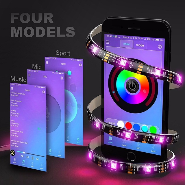 Lmid smd5050 rgb multi color usb bluetooth tv background led strip lmid smd5050 rgb multi color usb bluetooth tv background led strip lights kit pc wall mood mozeypictures Image collections
