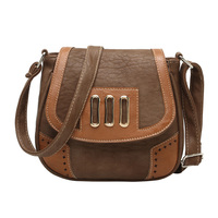 TFTP Women Messenger Bags Vintage Hollow Out Pu Leather Crossbody Shoulder Handbags Coffee