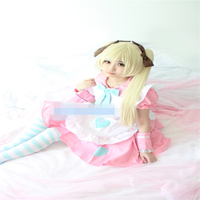 Anime Cosplay Costume APH Axis Powers 2P!Hetalia Olivia Kirkland Handmaid's Dress Z