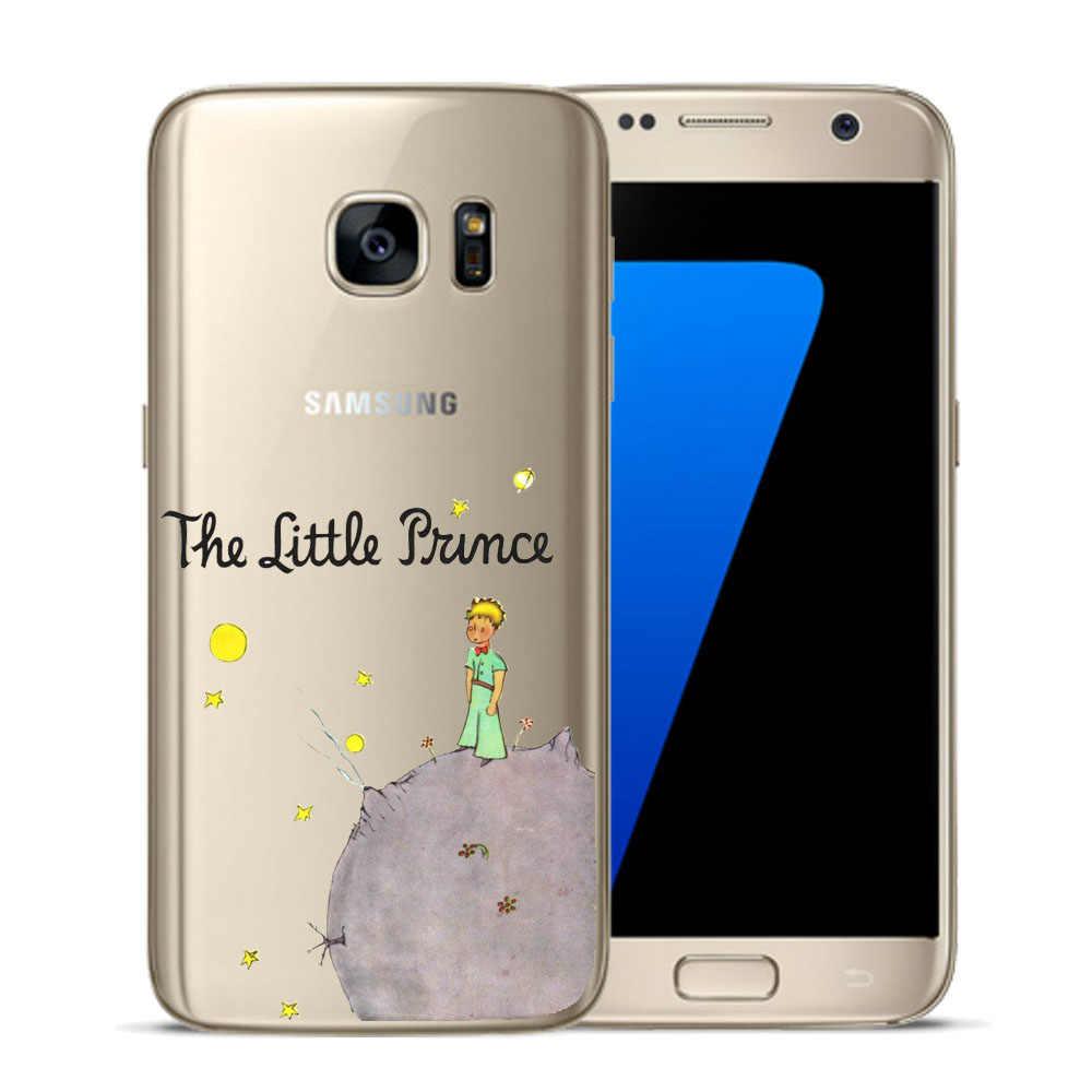 O Pequeno Príncipe Da Terra e do Espaço Macio TPU Silicone Case Voltar Telefone capa Para Samsung Galaxy Mini S5 S6 S7 S8 S9 Além de Borda