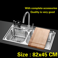 Free Shipping Hot Sell Big Kitchen Sink 1 Mm Thick Food Grade 304 Stainless Steel Standard