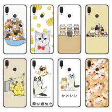 RIGTFKY For Huawei Nova 3 Cover 3i Case Cute Cat Cartoon Silicone Soft Back i
