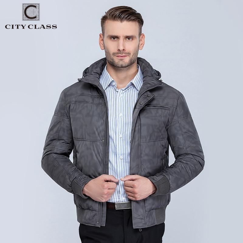 CITY CLASS Nya herrar vinter jackor mode fritid hatt kort - Herrkläder - Foto 2
