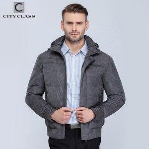 Image 2 - CITY CLASS chaquetas de invierno para hombre, sombrero de ocio a la moda, Isoft cálida chaqueta de invierno con relleno, envío gratis, 603