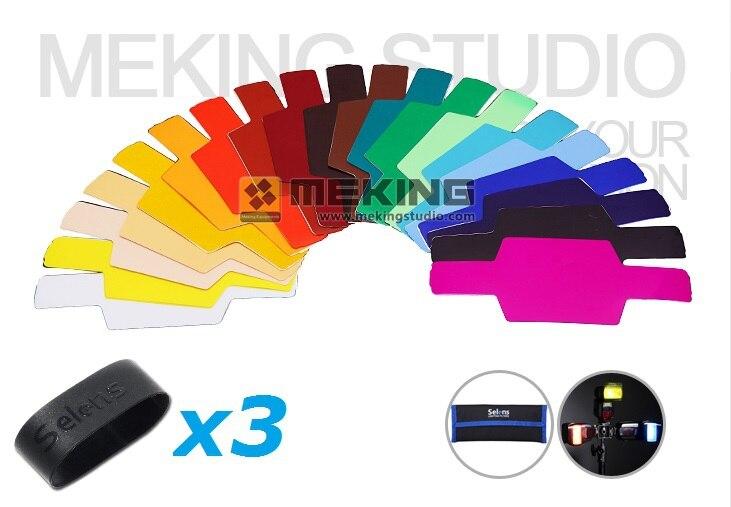 Selens SE CG20 Colorful Flash Gel Filter for DSLR Camera Godox Nissin Speedlight Strobist Photo Workshop