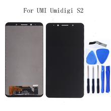 цены на For UMI UMIDIGI S2 6.0-inch LCD monitor touch screen For UMI Umidigi S2 mobile phone screen LCD display free shipping  в интернет-магазинах