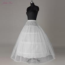 جوليا كوي 3 & 6 الأطواق كرينولين ألف خط ثوب نسائي الزفاف صورة اللون الأبيض