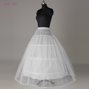 Julia Kui 3& 6 Hoops Crinoline A Line Wedding Petticoat Picture White Color(China)