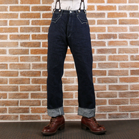 877 Бронсон 15 унций Индиго кромки unsanforised mens indigo кромки немытые redline сухой джинсовый Жан