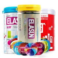 ELASUN Condoms 68 PCS Sexy Latex Dots Pleasure Nautural Rubber Penis Condoms for Men,Adult Sex Safer Contraception For Couples