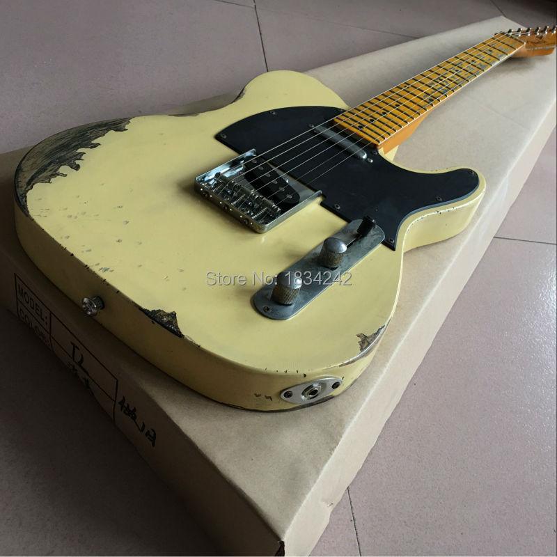 Custom Shop classique Tele Guitare électrique reliques la main. personnalisation de soutien. Nouveau Style main RELIQUE TL guitare électrique