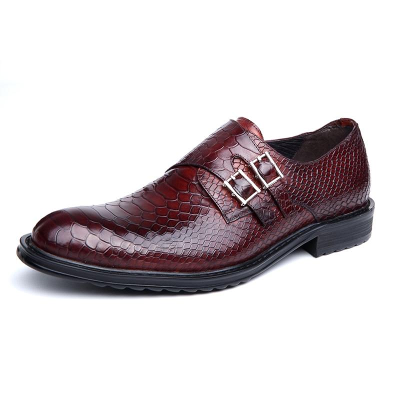 Otto Italy Luxury Men Shoes Handmade Oxford Retro Shoes Genuine Crocodile Cow Leather Lace-up Classic Designer Platform Shoes Men's Shoes Formal Shoes