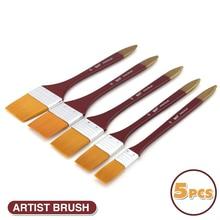цены на 5Pcs Paint Brushes Acrylic DIY Graffiti Brush Set For Artist Oil Scrubbing Brush School Drawing Paint Stationery Supplies  в интернет-магазинах