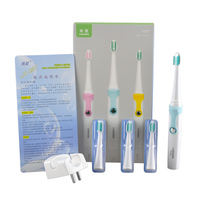 Lansung SN902 Waterproof Inductive Wireless Rechargeable Sonic Electric Toothbrush 4pcs Soft Toothbrush Head 0610004