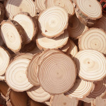 5pcs Unfinished Natural Round Wood Slices Circles With Tree Bark Log Discs for DIY Crafts Wedding Party Painting