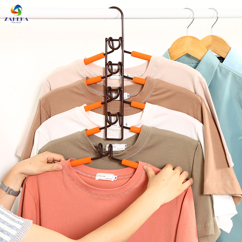 Magic Clothes Storage Steel Drying Racks Fish Bone Multi-layer Clothes Hanger Wardrobe Organizer Clothing Support