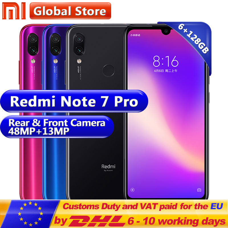 New Xiaomi Redmi Note 7 Pro 6GB 128GB Telephone Snapdragon 675 Octa Core 4000mAh 6.3 Water Drop Full Screen 48+13MP Smartphone(China)