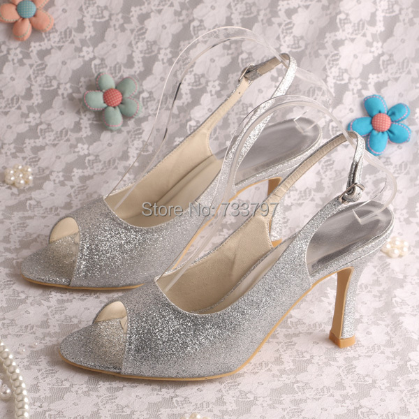 Wedopus 100 Guarantee Designer Wedding Bridal Prom Shoes Glitter High Heels Women Pumps Drop Ship