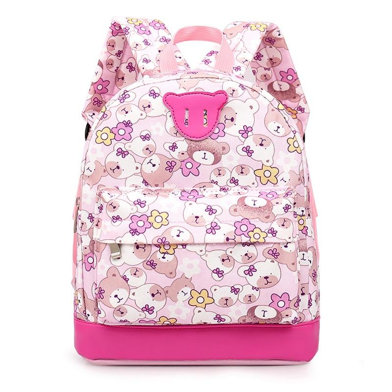 Cute Bear School Bags Animal Pattern Children Backpacks For Girls Boys Kindergarten Backpack Kids Small Bag Mochila Escolar стоимость