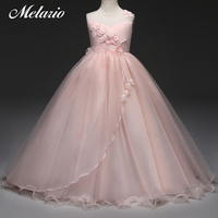 Melario Girls Dress 2018 Wedding Party Princess Christmas Dresse For Girl Party Costume Kids Mesh Party