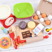 Kids Pretend Play Role Wooden Kitchen Supplies Cooking Food Seasoning Vinegar Colander Shovel Toys Educational For Children Gift