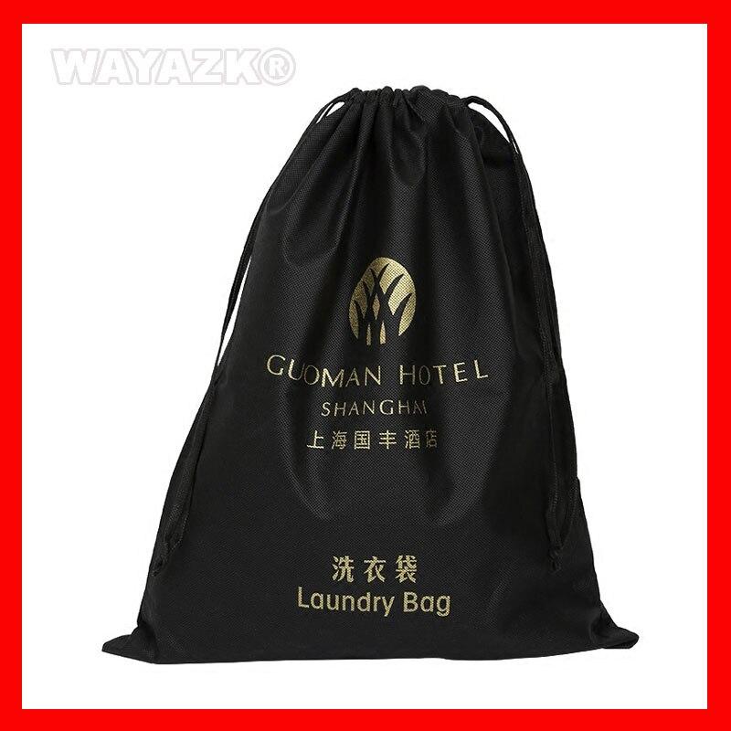 Reutilizável com Cordão Bolsa do Presente Corda com Logotipo Lote Personalizar Eco Friendly Impresso 500 Pçs –