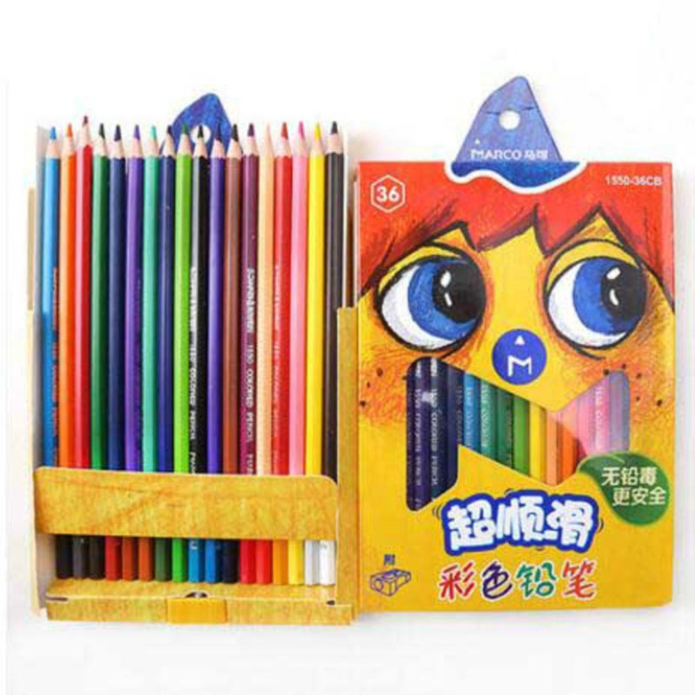 children smooth coating color lead 36 color colors wooden coloured rainbow pencil drafting pencils writing supplies
