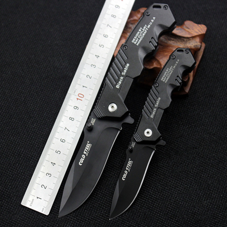 Acero frío 217 multifuncional al aire libre cuchillo plegable cuchillo de Ejército Suizo de gran pequeño tipo al aire libre autodefensa de salvamento